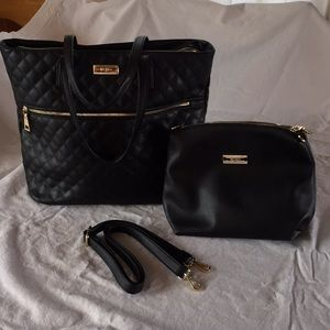 BCBG quilted bag with second smaller bag